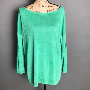 Talbots Linen Green Summer Sweater L